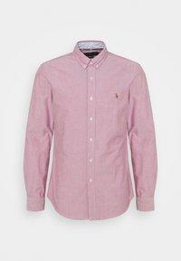 LONG SLEEVE SPORT SHIRT - Shirt - crimson/white