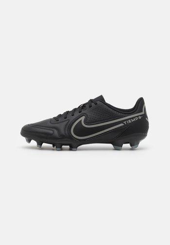 TIEMPO LEGEND 9 CLUB FG/MG - Moulded stud football boots - black/iron grey/metallic bomber gry