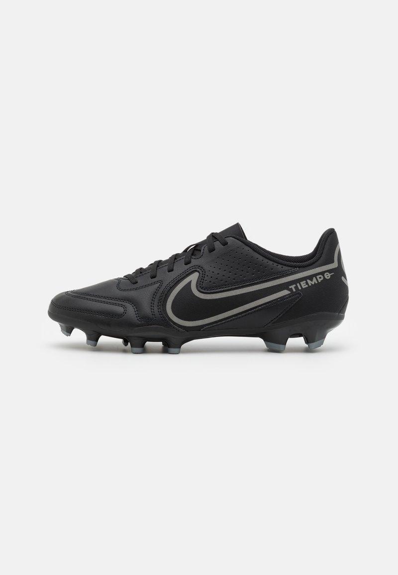 Nike Performance - TIEMPO LEGEND 9 CLUB FG/MG - Moulded stud football boots - black/iron grey/metallic bomber gry