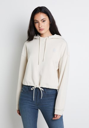 OVERSIZED CROPPED HOODED LONG SLEEVE - Hoodie - whitebait