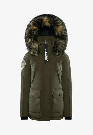 MOUNTAIN BIG BADGE - Down jacket - khaki