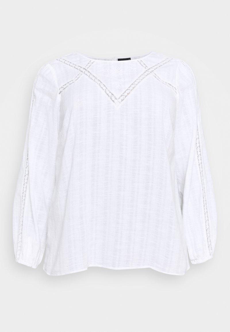 Zizzi - MASHER BLOUSE - Blouse - bright white