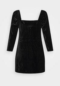 Who What Wear - SQUARE NECK MINI DRESS - Shift dress - black - 5