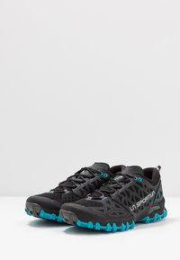 La Sportiva - BUSHIDO II - Trail running shoes - black/tropic blue - 2