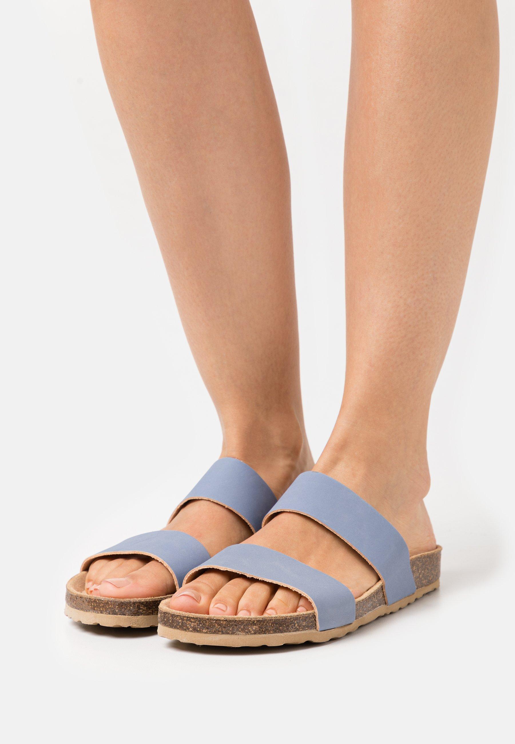 Women BIABETRICIA TWIN STRAP - Mules - light blue