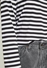 Monki - URSULA - Long sleeved top - black/white /yellow - 5
