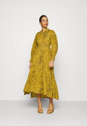 DEMOIR BRODERIE DRESS - Maxi dress - garden olive
