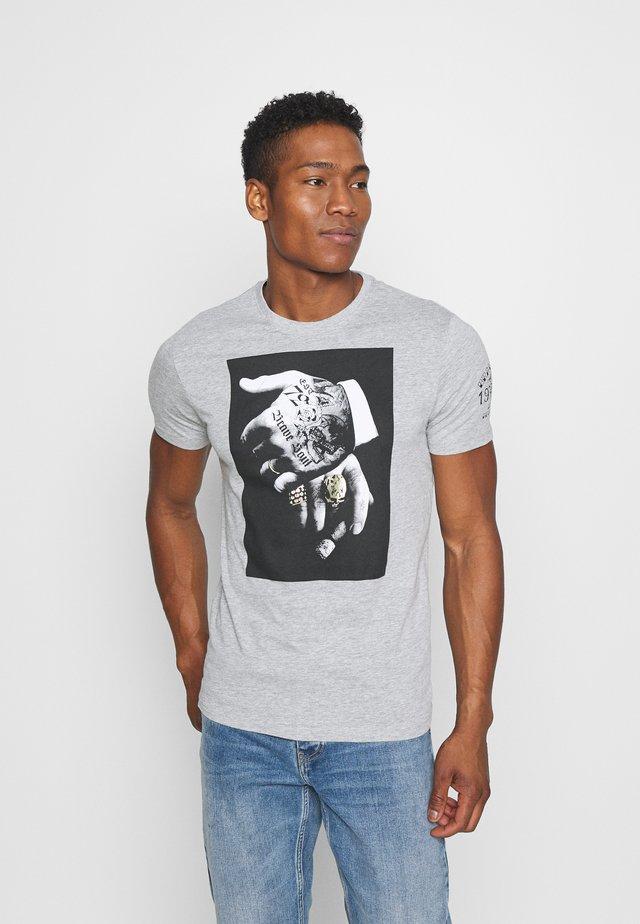 VIGGOX - T-shirt imprimé - light grey marl