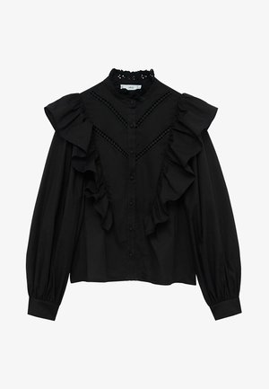 ROMA - Button-down blouse - zwart
