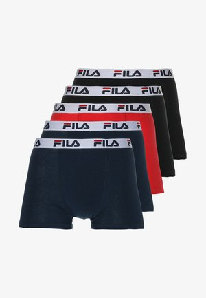 5 PACK - Shorty - navy/black/red