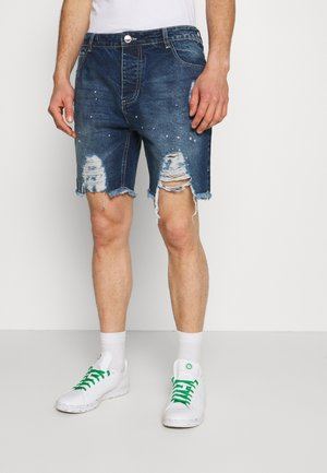 DISTRESSED - Jeansshort - blue