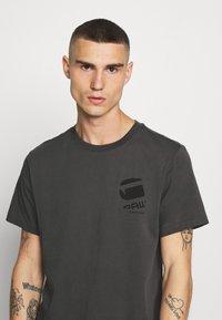 G-Star - BIG LOGO BACK  - Camiseta estampada - light shadow - 3