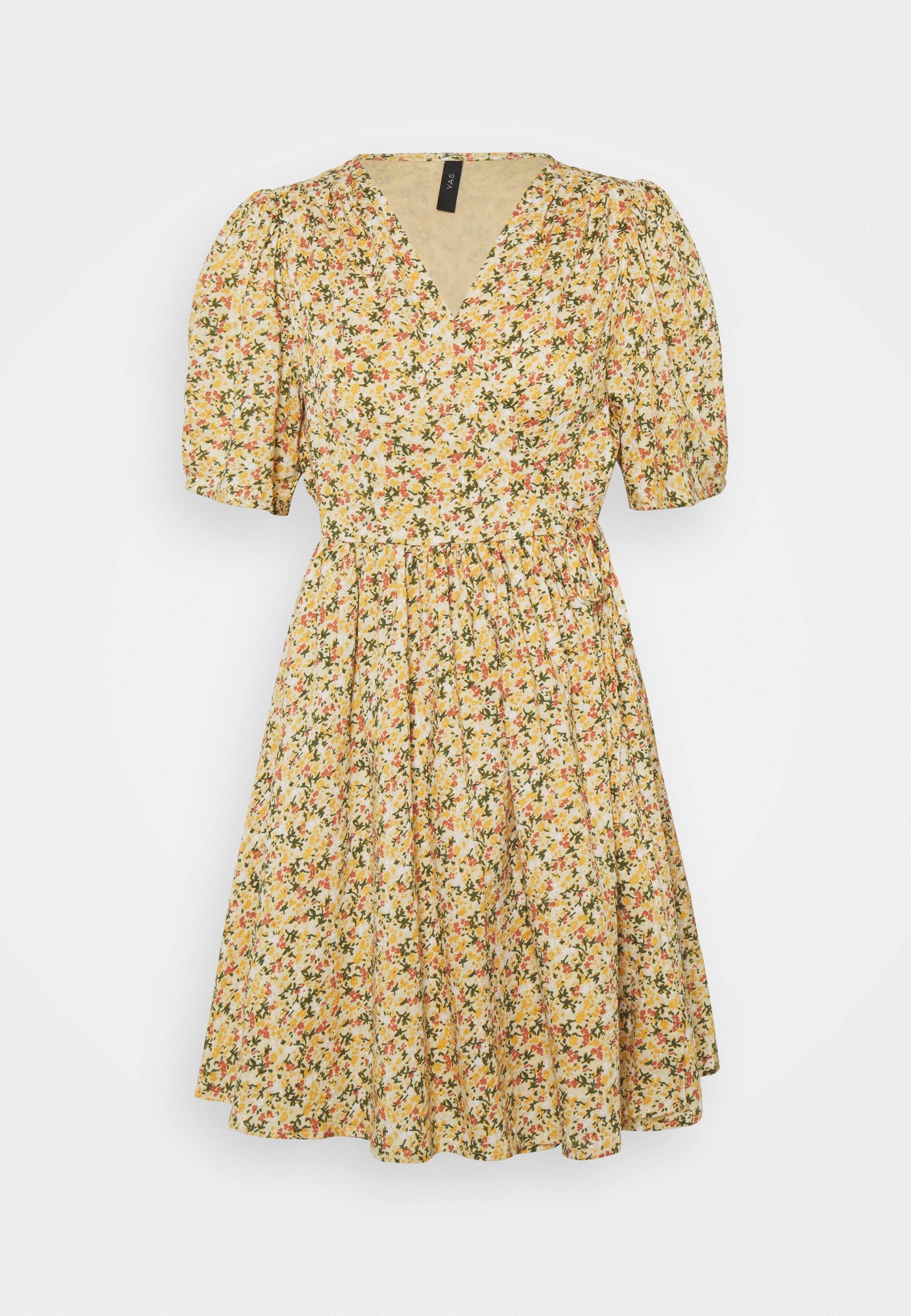 Women YASLAGI WRAP DRESS  - Day dress - humus/lagi