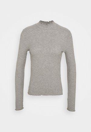 NMBERRY HIGH NECK - Trui - mottled grey