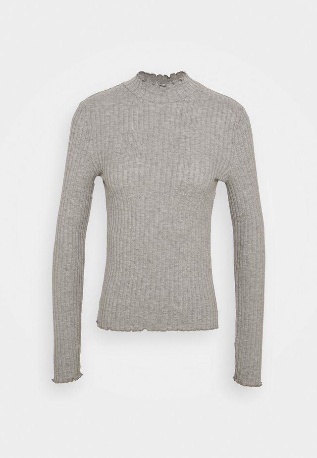 NMBERRY HIGH NECK - Jumper - mottled grey
