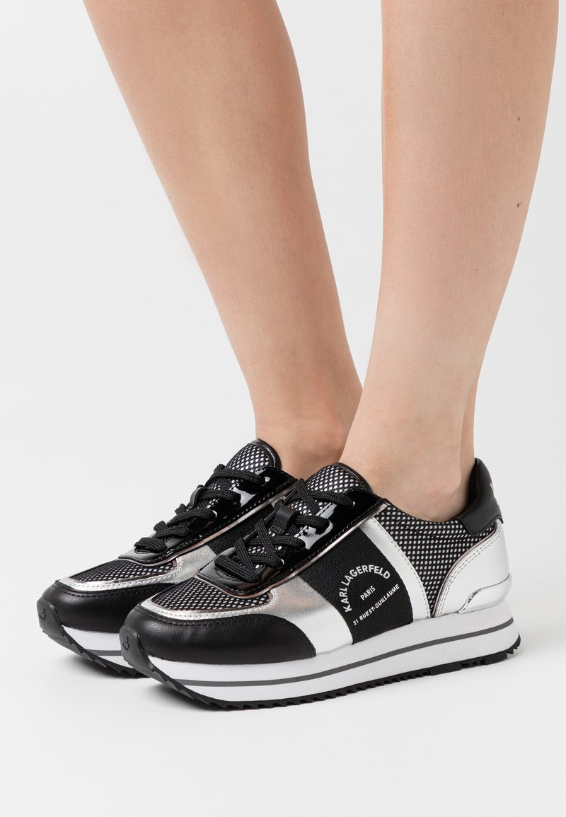 KARL LAGERFELD - VELOCITA MAISON LACE - Sneakersy niskie - black/silver