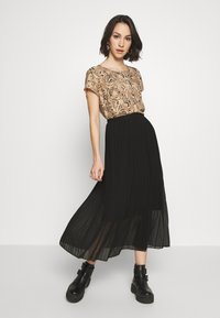 New Look - PLEATED - A-Linien-Rock - black - 3