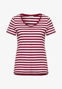 Street One - IM STREIFEN - Print T-shirt - rot - 3