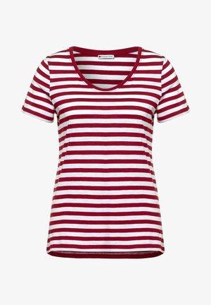 IM STREIFEN - Print T-shirt - rot