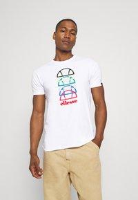 Ellesse - MAGARIO TEE - Print T-shirt - white - 0