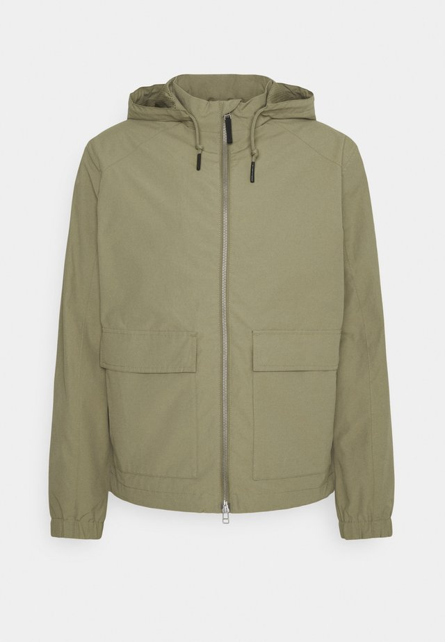 ZIPPED - Windbreaker - slate green