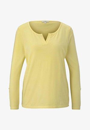 OVERDYE - Maglietta a manica lunga - jasmine yellow