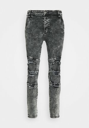 BIKER - Jeans Skinny Fit - black acid wash