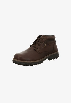 Lace-up ankle boots - braun