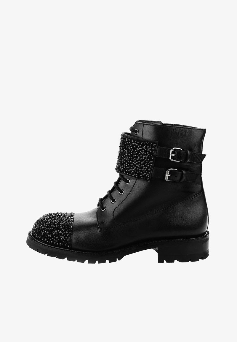PRIMA MODA - ACATE - Lace-up ankle boots - black