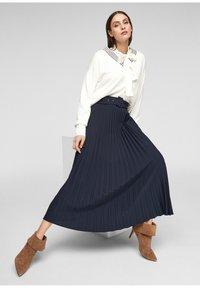 s.Oliver - A-line skirt - blue - 3