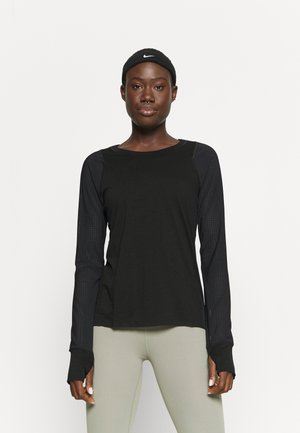 BREEZE RUNNING - Long sleeved top - black