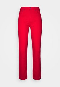 Benetton - TROUSERS - Džíny Straight Fit - red - 3