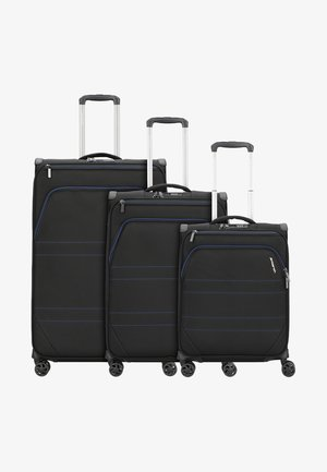 3 SET  - Luggage set - black indigo