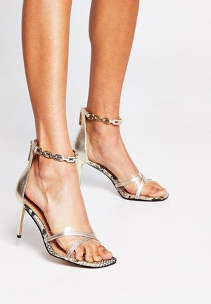 High heeled sandals - yellow