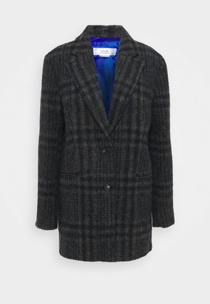 JUMBO CHECK COAT - Classic coat - brown/blue