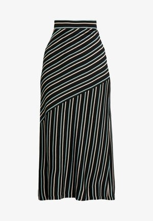 STRIPED - Pencil skirt - art black