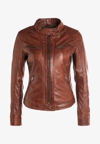 Oakwood - Leather jacket - tobacco - 6