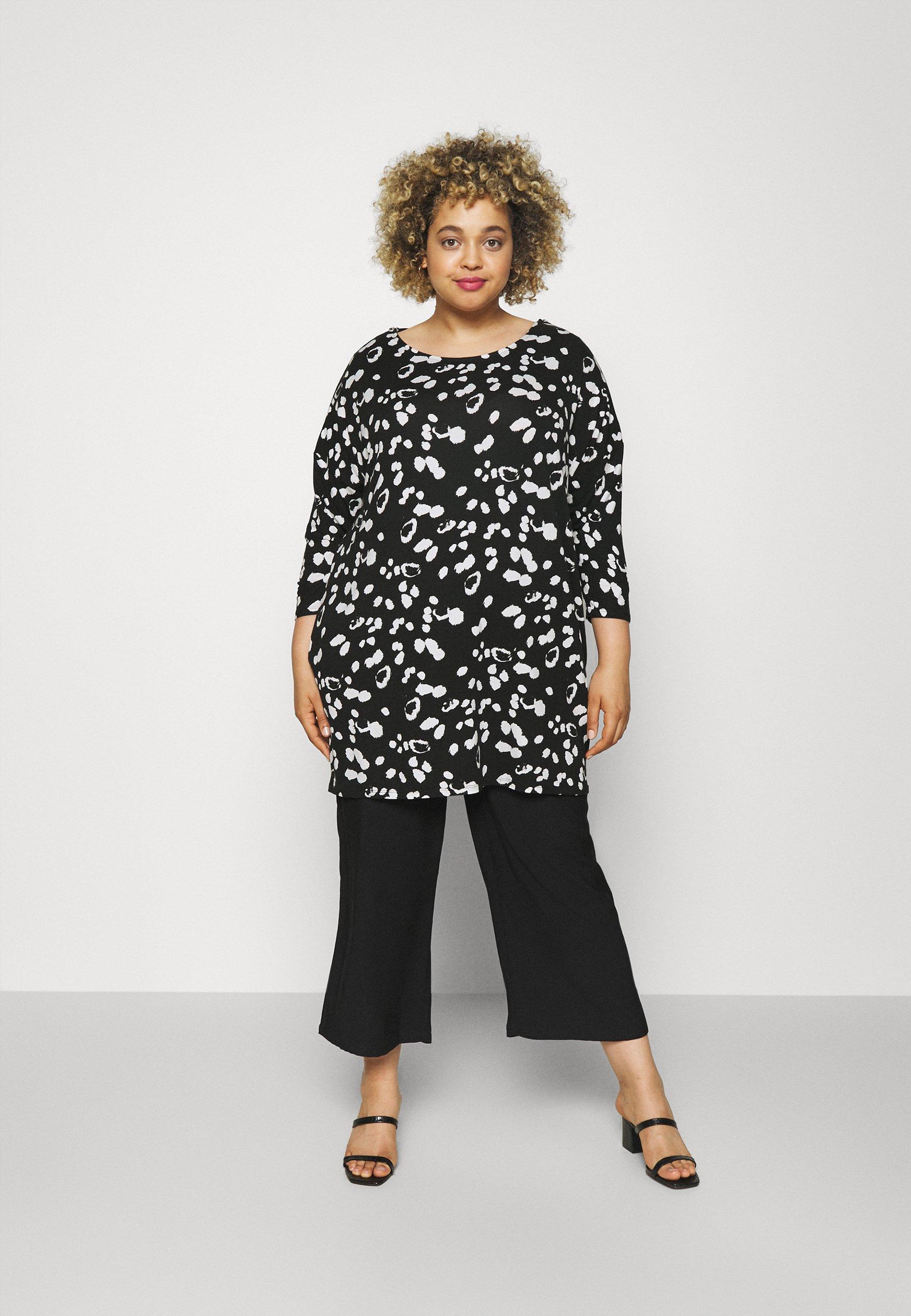 Women ZIP SHOULDER DETAIL SIDE POCKET - Long sleeved top