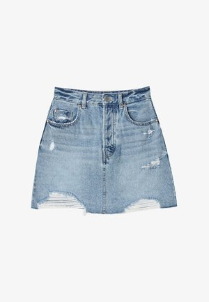 MINI  IM ACID-WASH 01330599 - Denim skirt - blue denim