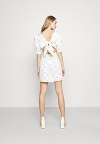Glamorous - TIE BACK BUTTON MINI DRESSES WITH PUFF SLEEVES - Day dress - yellow - 2