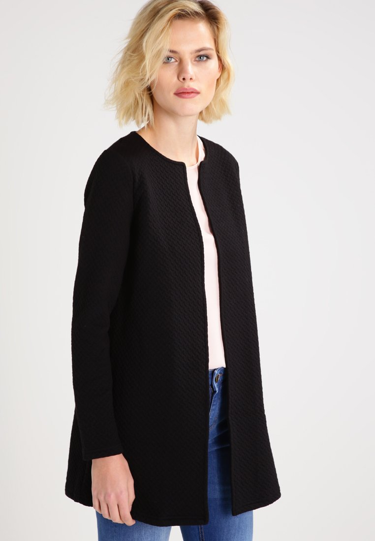 Vila - VINAJA NEW LONG - Chaqueta de punto - black