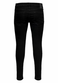 Only & Sons - ONSWARP LIFE KNEECUT - Jeans Skinny Fit - black denim - 6