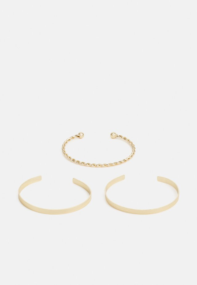 PCACTI CUFF BRACELET 3 PACK - Armband - gold-coloured