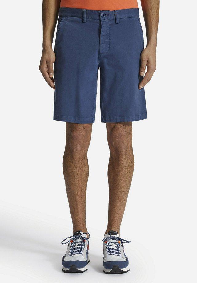 GABARDINE BERMUDA - Shorts - dark-blue denim