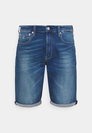 Denim shorts - denim dark