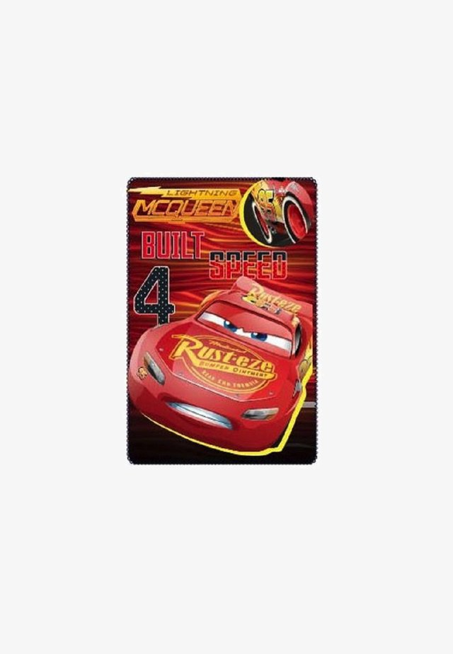 FLEECEDECKE - Play mat - rot