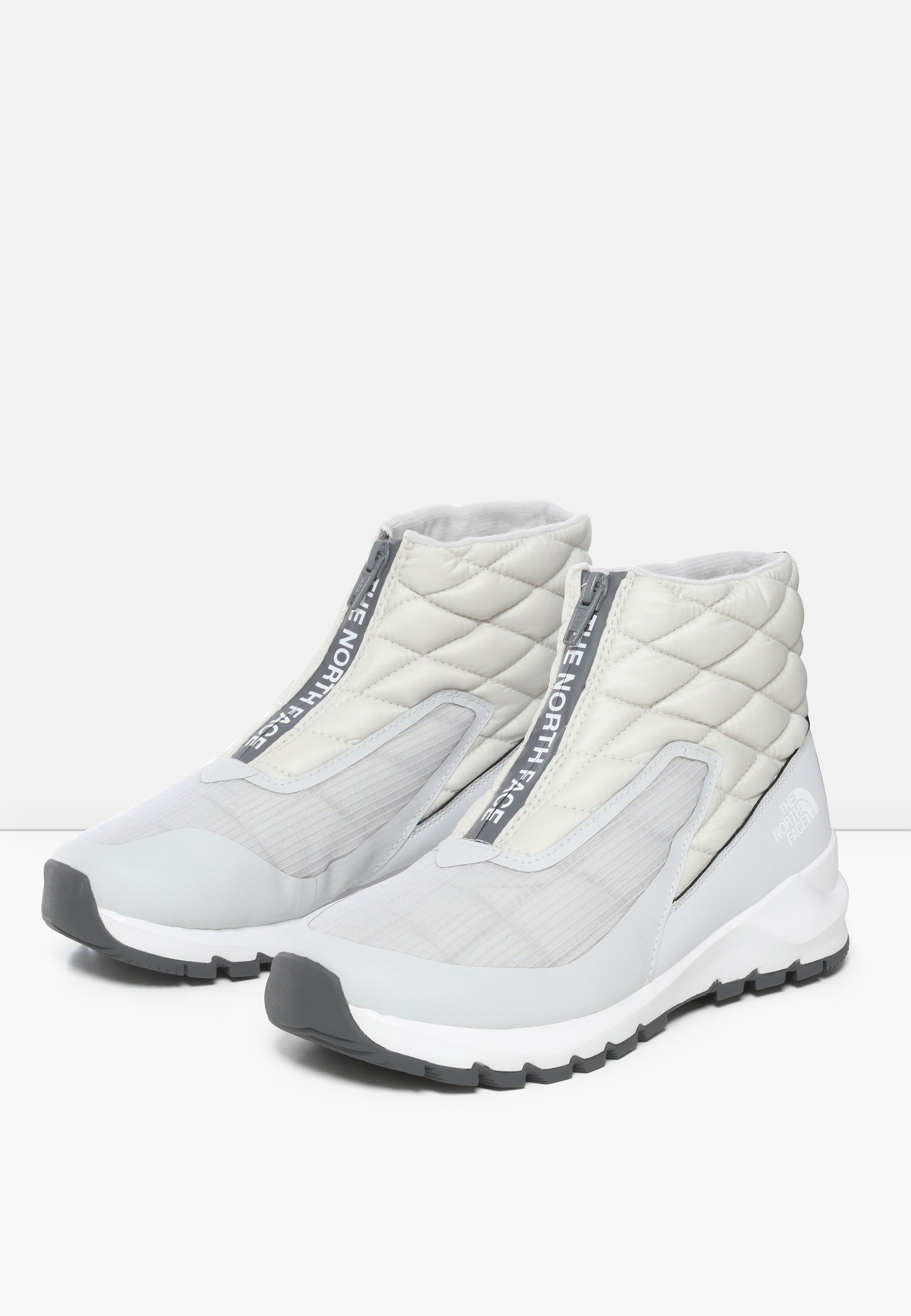 The North Face W THERMOBALL PROGRESSIVE ZIP Snowboot/Winterstiefel spackle grey/tnf white/grau