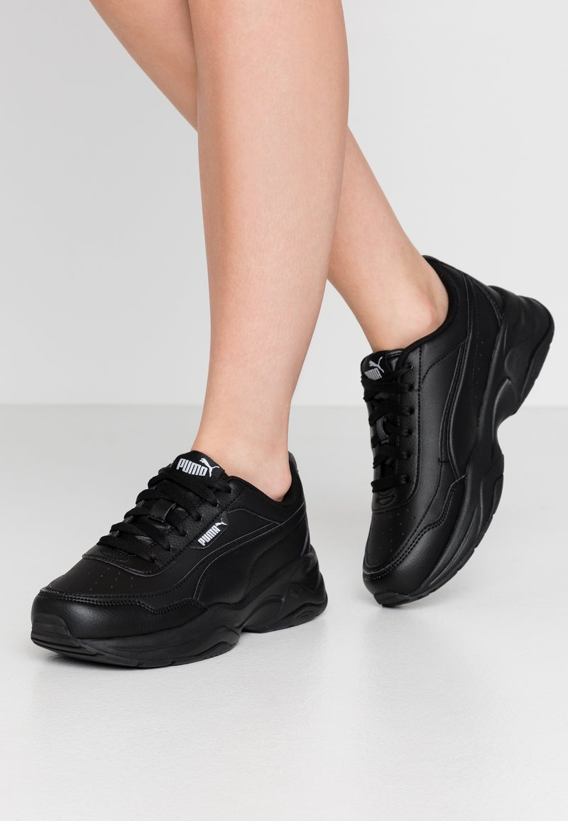 Puma - CILIA MODE - Sneakersy niskie - black/silver