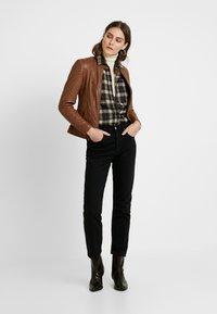 NAF NAF - CLIM - Leather jacket - cognac - 1