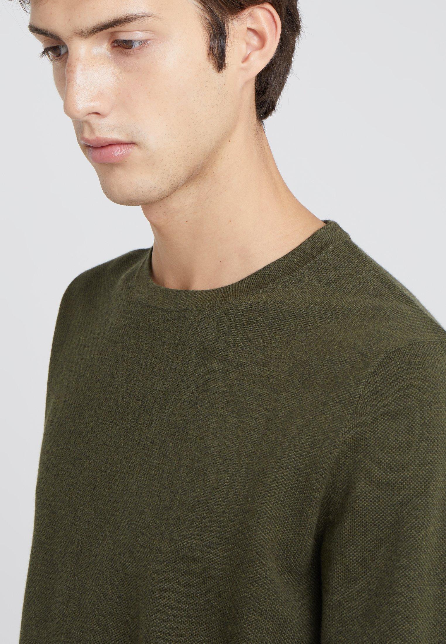 J.CREW CASH CREW - Pullover - heather olive